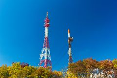 Antenna towers Royalty Free Stock Images