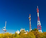 Antenna towers royalty free stock photos
