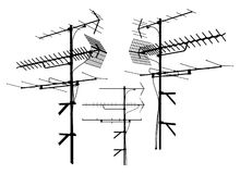 Antenna Vector 01. Television Connection Antenna Illustration Vector Royalty Free Stock Photography