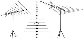 Antenna Vector 02. Telecommunication Antenna Isolated Illustration Vector Stock Photos