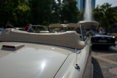 Antenna of vintage car. In Frankfurt stock photography