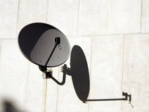 Antenna on the wall Stock Image