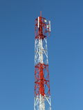 Antenna wireless phones. In the daytime and blue sky Royalty Free Stock Photos