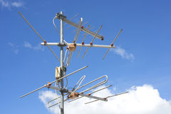 Antenna. Yagi antenna to receive TV signals for households Royalty Free Stock Photo