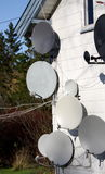 Antennas all over the place Royalty Free Stock Images