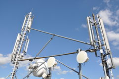Antennas cellular systems Stock Photos