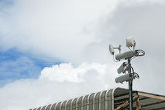 Antennas of mobile cellular systems with wifi hot spot repeater Stock Images