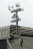 Antennas of mobile cellular systems with wifi hot spot repeater Stock Image