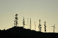 Free Antennas On A Mountain Royalty Free Stock Images - 22614539