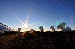 Antennas over Mauna Kea Stock Photo