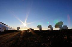 Antennas over Mauna Kea Stock Photo
