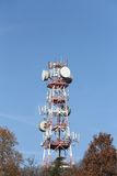 Antennas and radar for television broadcasts Stock Image