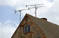 Antennas on the roof Royalty Free Stock Photos