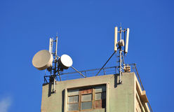 Antennas in the sky Stock Image