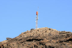 Antennas on the top of a Hill Stock Images