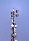 Antennas tower for radio and TV signal Stock Images