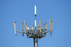 Antennas for the transmission of signals of mobile pho Royalty Free Stock Photography