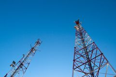 antenncomunication Royaltyfri Foto