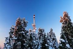 Antenne à la montagne Photos stock