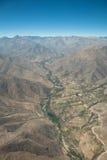 Antenne über Chile Lizenzfreies Stockfoto