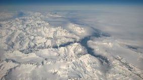 Antenne über den Schweizer Alpen Stockfoto