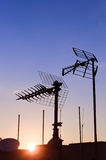 Antenne aérienne de TV Images libres de droits