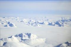 Antenne arctique de paysage du Svalbard photos stock
