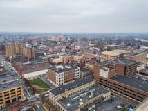 Antenne areound de Lancaster du centre, Pennsylvanie le M central photos stock