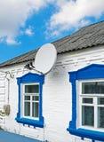 Antenne auf Bauernhaus Stockbild