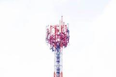 Antenne auf weißem Hintergrund Stockfotos