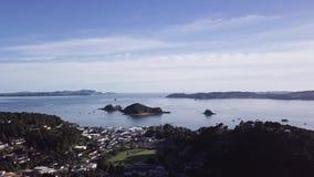 Antenne, baai van eilanden 4k stock videobeelden