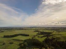 Antenne, beau paysage profond du Nouvelle-Zélande dans Martinborough Image libre de droits