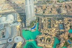 Antenne Burj Khalifa Lake Stockfoto