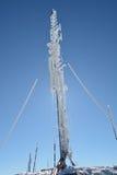Antenne congelée, couverte par la gelée Photo libre de droits