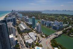 Antenne courante Miami Beach de photo Images stock