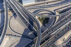 Antenne d'échange d'autoroute de Las Vegas Photographie stock libre de droits