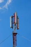 Antenne d'émetteur de téléphone mobile Photographie stock