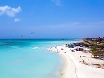 Antenne d'île d'Aruba dans les Caraïbe Photographie stock