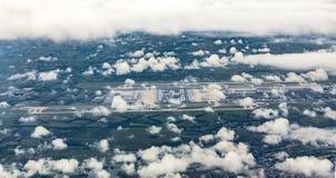 Antenne d'aéroport de Munich dans les moos d'erdinger Images libres de droits