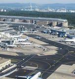 Antenne d'aéroport international de Francfort Image stock