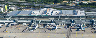 Antenne d'aéroport international de Francfort Photo stock