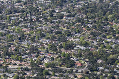 Antenne d'Altadena la Californie Photo libre de droits