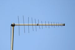 Antenne d'antenne de TV image stock
