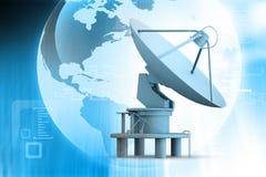 Antenne d'antennes paraboliques illustration libre de droits