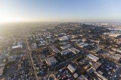 Antenne d'après-midi de Long Beach et de la Californie de colline de signal Images stock