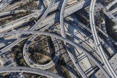 Antenne d'échange d'autoroute de Los Angeles Photographie stock