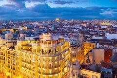 Antenne d'horizon de Madrid, Espagne Photo libre de droits