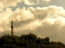 Antenne d'un émetteur images libres de droits