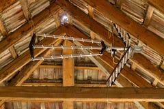 Antenne dans le grenier Photo libre de droits