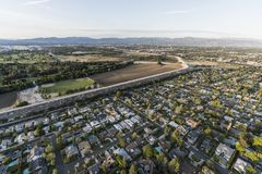 Antenne de bassin d'Encino et de Sepulveda à Los Angeles la Californie Image libre de droits